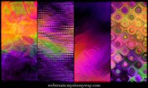 Exotic Purple Patterns by WebTreatsETC