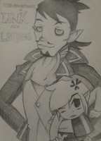 The Adventures of Link and Linebeck - cover by Arcane-Panda