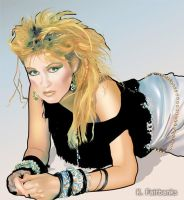Cyndi Lauper (digital drawing) by eyeqandy