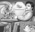 Alien and Belushi by GuySmiley