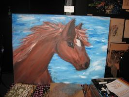 Horse painting by Kitamon