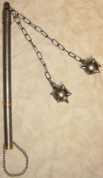 Double Ball Morningstar Flail by FantasyStock