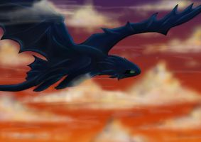 Toothless-the-Night-Fury by Azurecca