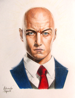Professor X - James McAvoy (Drawing) by EduardoCopati