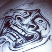 Hannya Sketch by TattooJamie
