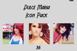 Dulce Maria Icon Pack by Cladiaaaaa