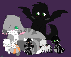 Look at teh Happy Family :3 by MarsieZeWerewolfie