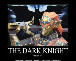 Ganondorf the real Dark Knight by ninjatoespapercraft