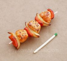 mini kabob bbq by BadgersBakery
