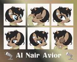 MLP OC Expressions : Al Nair Avior by outlaw4rc