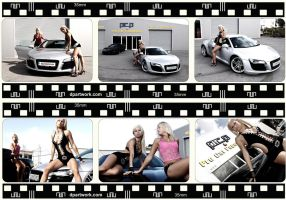 Hot Babes,Audi R8,Corvette by DionPa
