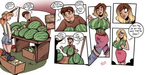At The Farm Stand - TG Transformation by Grumpy-TG