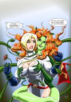 Power Mad 2 ( Power Girl and Poison Ivy ) by adamantis