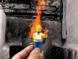 On fire baby by Lazlo-Moholy