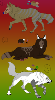 Canine Adopts (CLOSED) 0/3 left. by MoosePotatoe