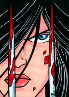 Sketchcard X-23 by RichBernatovech
