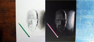 Inverted Walter White Breaking Bad pencil drawing by AlexMiK
