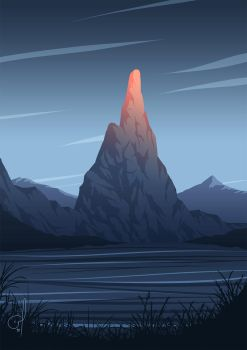 Lonely Mountain by OGARart