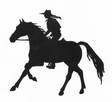 Silhouette of Girl Riding Horse by SophieNeville