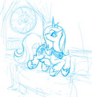 Luna Sketch -preview- by VertreV