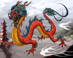 Chinese Dragon by edcomics