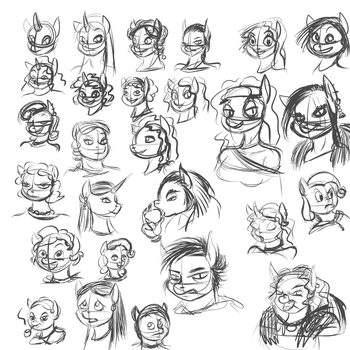SoH - Female Expressions exercise by Velgarn