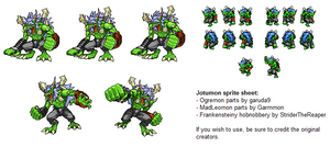Sprite Sheet - Jotumon by StriderTheReaper