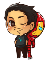 Tony is IRONMAN by KiiruSama