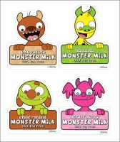 Monster Milk front labels by striffle