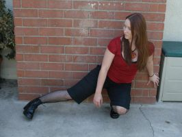 red and black full body 9 by PhoeebStock