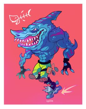 001 Jawtastic shark dude by Garvals