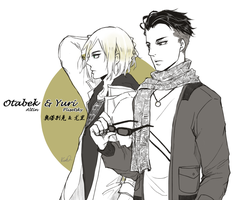 YOI : Otabek and Yurio by Kuro-Q
