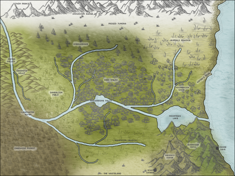 Map of Kadingir by alpoxwolf