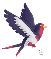 277 Swellow by pokemon-countdown