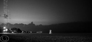 Evening on the Beach BW by Uncaged