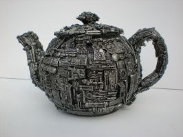 robo tea pot by richardsymonsart