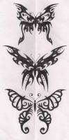 tribal butterflies by terminatress