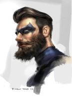 Nightwing beard by iVANTAO