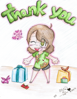 Thank You Card by GreenSpiralCat