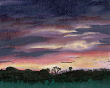 Sky painting by YamiSerenity