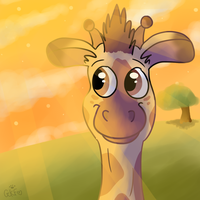 Golden giraffe by LouPup