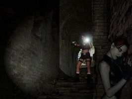 Tomb Raider Underworld cosplay - in cave by TanyaCroft