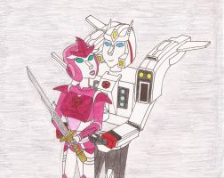Drift and Glimmer Sparring by kiinastar