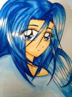 Blue haired girl by Snappedragon