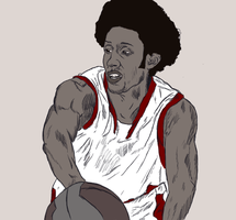 Josh Childress by Garcho