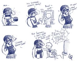 Doodle comic: Violent Games by MasterRambler