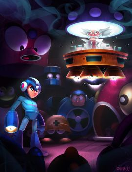 Mega Man Tribute by frogbillgo
