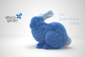 The Easter Bunny is Blue by CGRebel
