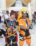 Sora and Kingdom Hearts Naruto by R-Legend