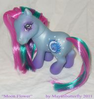 Moon Flower Custom Little Pony by mayanbutterfly